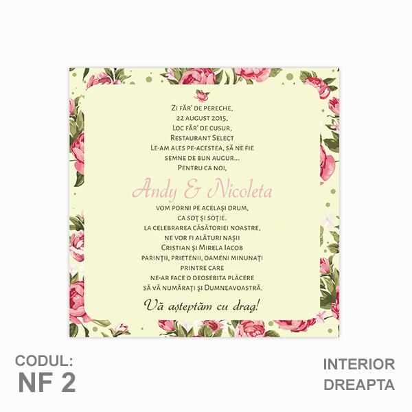Invitatie Nunta Nf02 Pliata