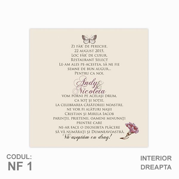 Invitatie Nunta Nf01 Pliata