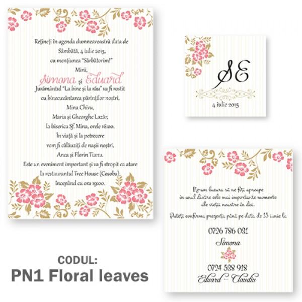 Invitatie Nunta Pn1 Poketfold Luxury Gri și Crem