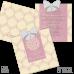 Invitație Botez B30 Floral