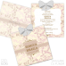 Invitație Botez B36 Elegant Floral