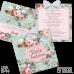 Invitație Botez B44 Floral Natural