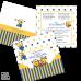 Invitație Botez B52 Minioni Dots
