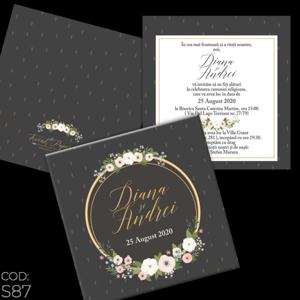 Invitație Nuntă S87 Elegant